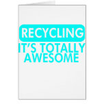 Recycling, It's awesome (Cyan) Greeting Cards