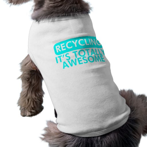 Recycling, It's awesome (Cyan) Pet Tee