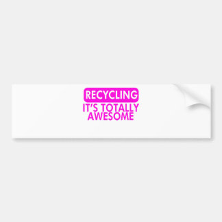 Recycling, It's awesome (Pink) Bumper Sticker