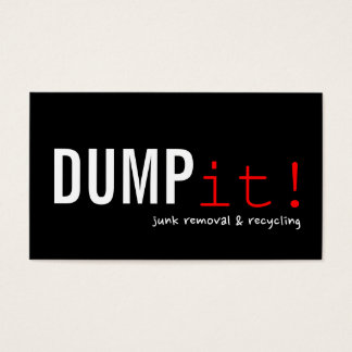 Recycling Junk Scrap Metal Removal Business Card