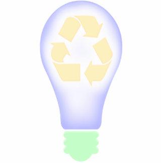 Recycling Light Bulb Cutout