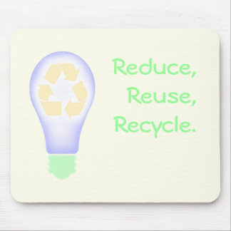 Recycling Light Bulb Mouse Pad