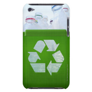 Recycling logo cut out of green plastic barely there iPod covers
