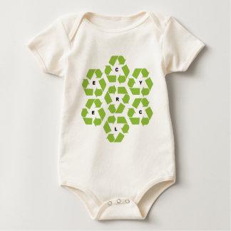 Recycling Logos Baby Bodysuit