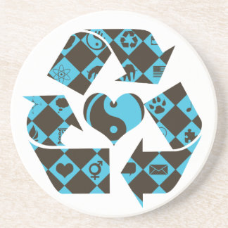 Recycling Love Drink Coaster