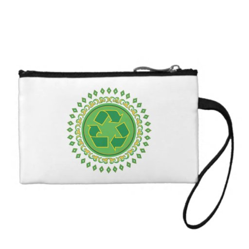 Recycling Medallion Change Purse