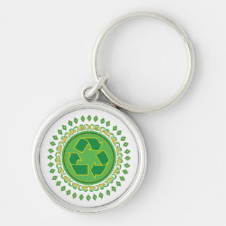 Recycling Medallion Keychain