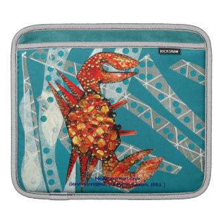 Recycling Mediterranean Crab iPad Sleeve