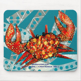Recycling Mediterranean Crab Mouse Pad