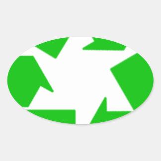 Recycling Oval Sticker