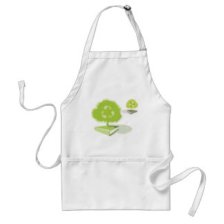 Recycling paper! Save trees! Adult Apron