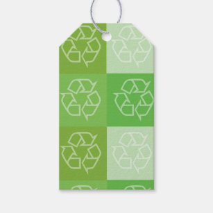 Recycling Pattern gift tag