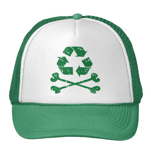 Recycling Pirate Trucker Hat