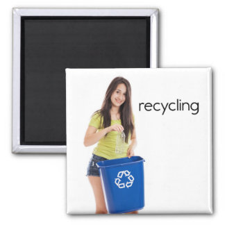 Recycling Refrigerator Magnet