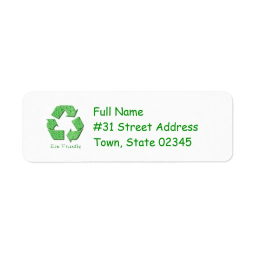 how to fill in a return address