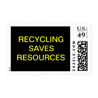 RECYCLING SAVES RESOURCES STAMP