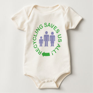 Recycling Saves Us All Baby Bodysuit