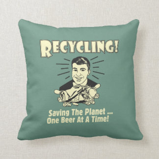 Recycling: Saving the Planet Throw Pillow