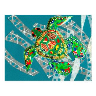 Recycling Sea Turtle Postcard