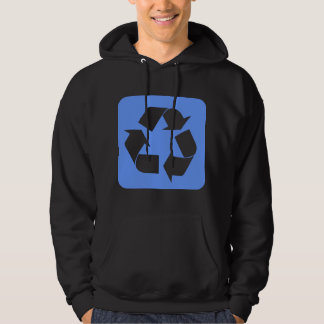 Recycling Sign - Baby Blue Hoodie
