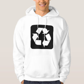 Recycling Sign - Black Hoodie