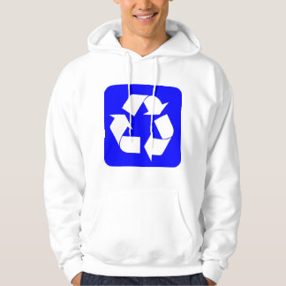 Recycling Sign - Blue Hoodie