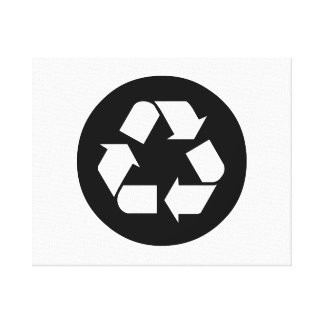 Recycling Sign Canvas Prints