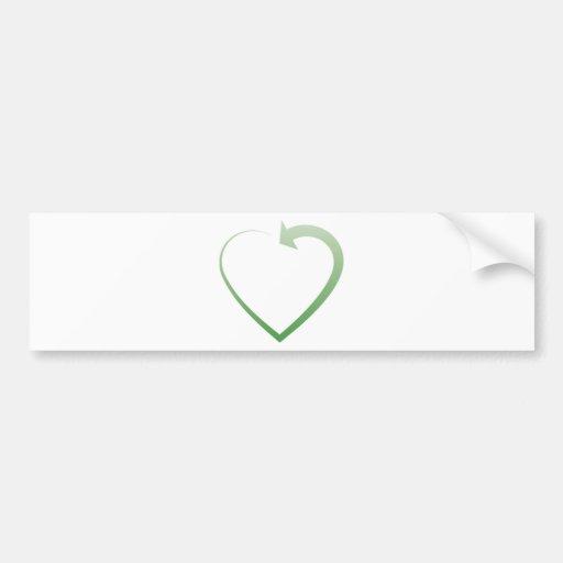 Recycling sign car bumper sticker