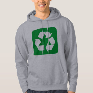 Recycling Sign - Grass Green Hoodie