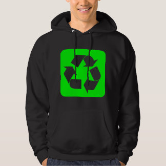 Recycling Sign - Green Hoodie