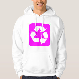 Recycling Sign - Magenta Hoodie