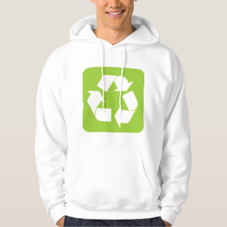 Recycling Sign - Martian Green Hoodie