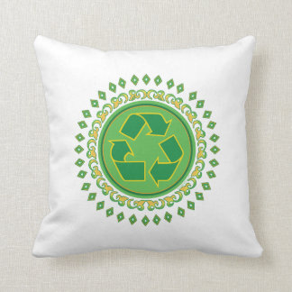 Recycling Sign Medallion Pillows