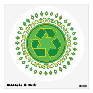 Recycling Sign Medallion Wall Decal