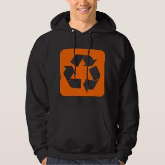 Recycling Sign - Orange Hoodie