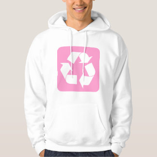 Recycling Sign - Pink Hoodie