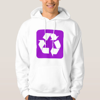 Recycling Sign - Purple Hoodie