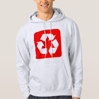 Recycling Sign - Red Hoodie