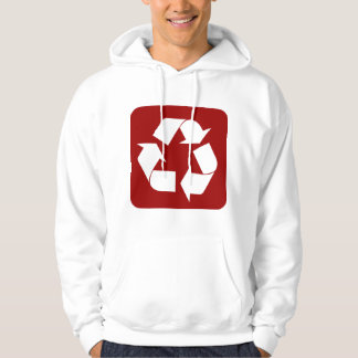 Recycling Sign - Ruby Hoodie