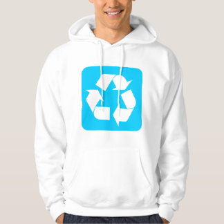 Recycling Sign - Sky Blue Hoodie