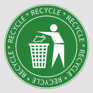 Recycling Sign Stickers