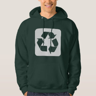Recycling Sign - White Hoodie