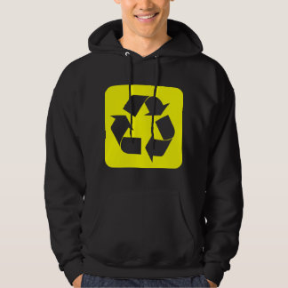 Recycling Sign - Yellow Hoodie