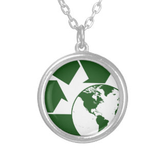 recycling silver plated necklace
