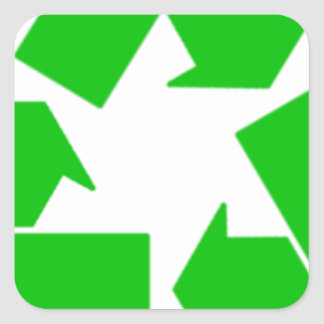 Recycling Square Sticker