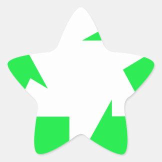 Recycling Star Sticker