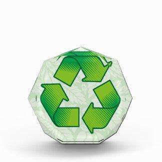 Recycling symbol acrylic award