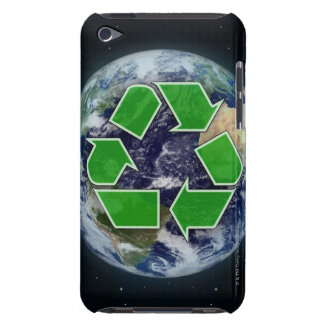 Recycling symbol and planet earth iPod touch cover