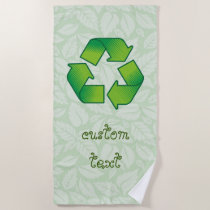 Recycling symbol beach towel