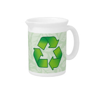 Recycling Symbol Beverage Pitcher